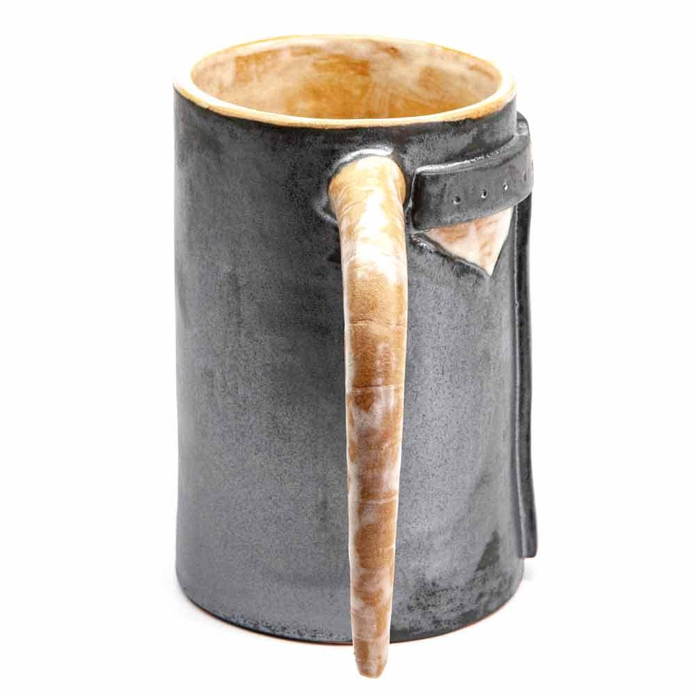 Viking korsó. Viking harci sisak korsó fémes mázzal. 5dl.